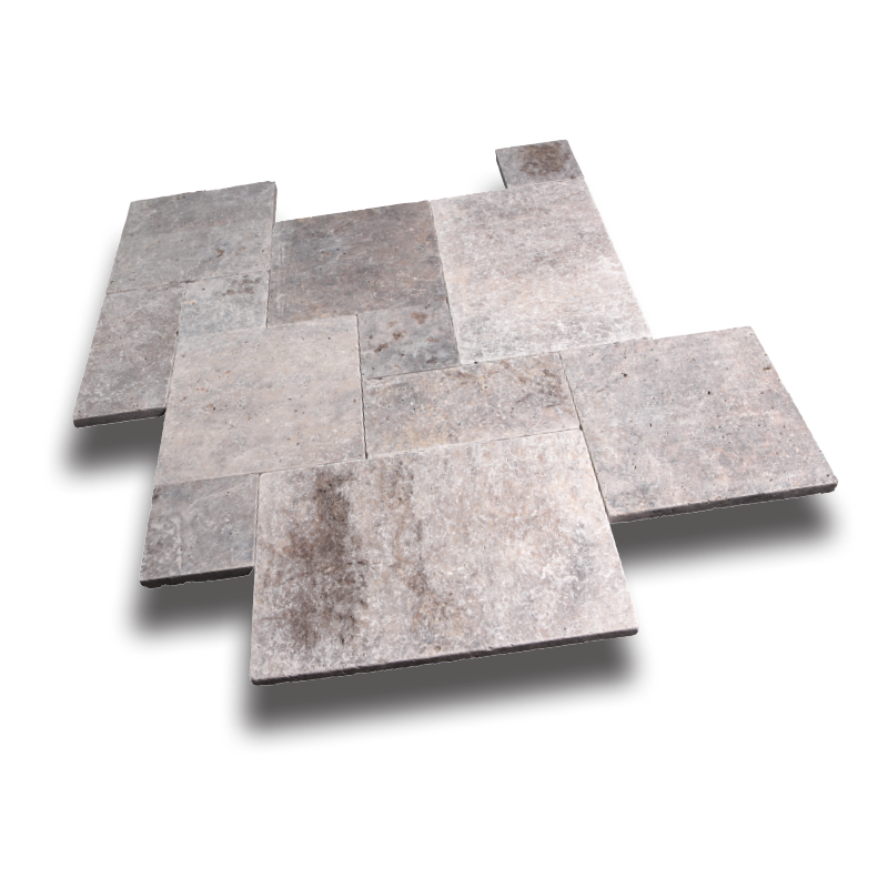 Arctic Silver Travertine Paver
