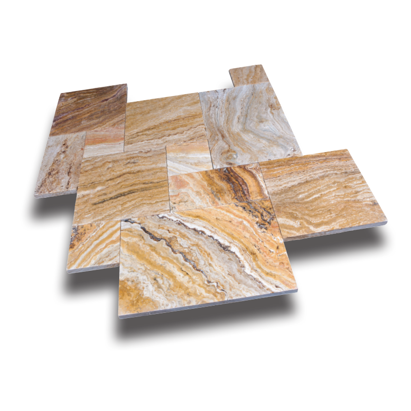 Autumn Blend Travertine Pavers