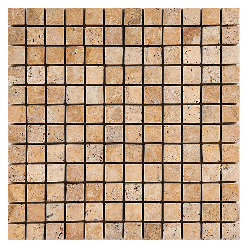 Gold Travertine Tumbled Mosaics
