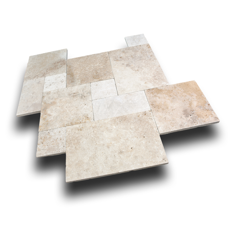 Ivory Blend Travertine Paver