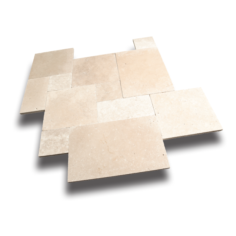 light travertine paver