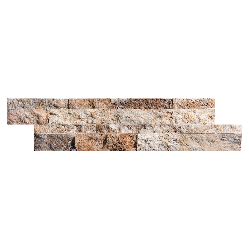 Scabos Travertine Ledger Wall Panel Split face Mosaics