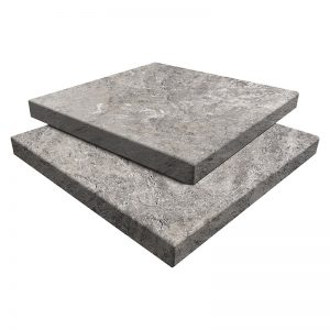 Arctic Silver Travertine Paver 12x12