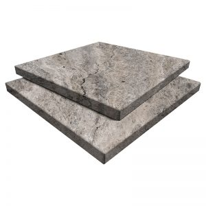 Arctic Silver Travertine Paver 16x16