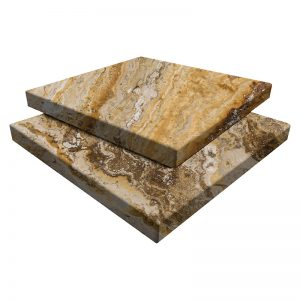 Autumn Blend Travertine Pavers 12x12